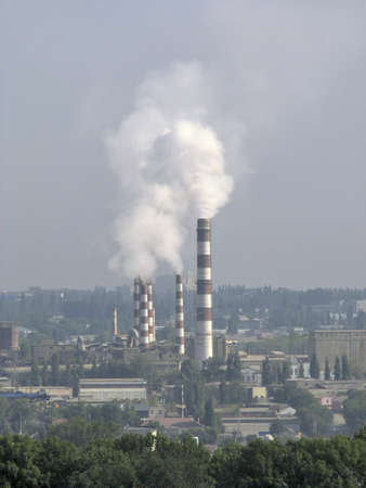 cement chimney: Bad surges in city atmosphere