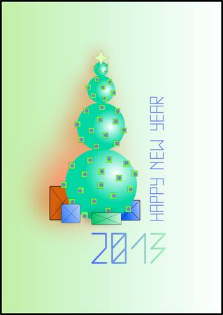 New year 2013 background  Christmas illustration card Stock Vector - 16788177