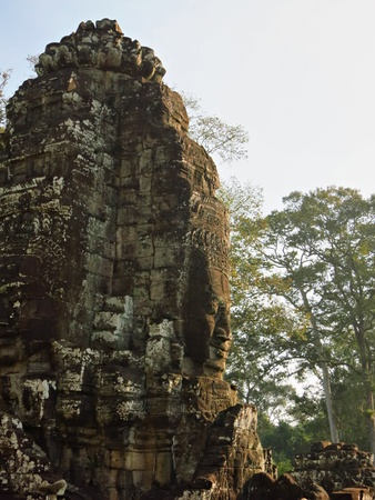 The ancient ruins of Angkor Wat temple complex                                photo