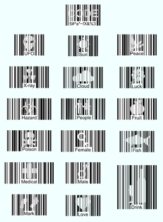 Illustration creative barcode icons, text, vector Stock Vector - 17073985