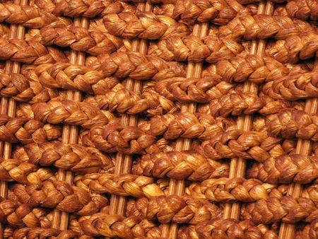 rattan plaited mats close up photo