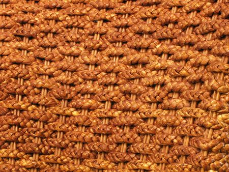medium shot: rattan plaited mats medium shot Stock Photo