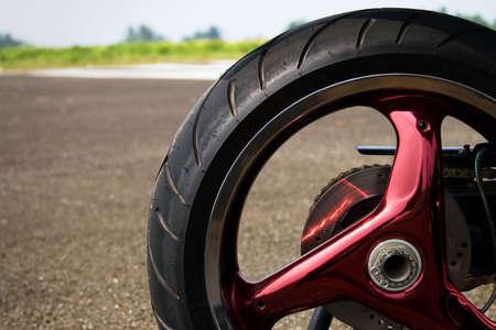 superbike: superbike wheel Stock Photo