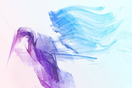 soaring: abstract bird flapping and soaring its wings