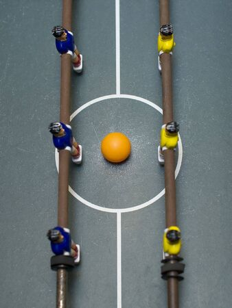 foosball: foosball game high angle