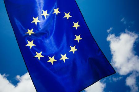 European Union Flag. Voting concept.