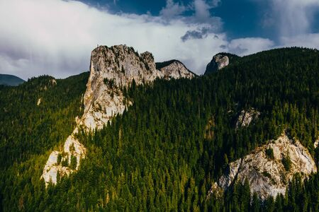Bicaz gorge seen from a drone