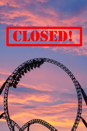 Closed amusement park due to Coronavirus outbreak.