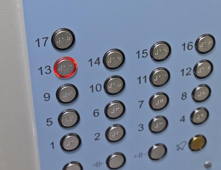 Elevator Control Panel Stock Photo
