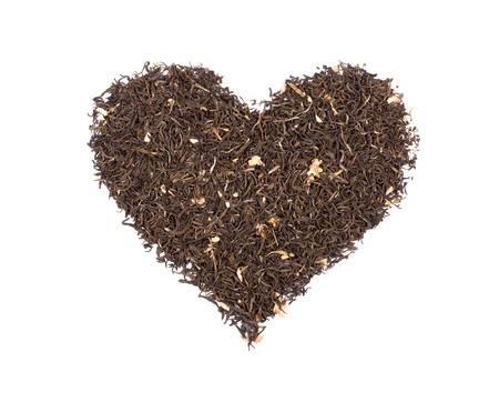 sencha tea: Heart Symbol Composed Of Green Tea. Ideal For REAL Tea Lovers