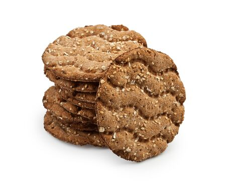 Stack Of Healthy Crispbreads With Sesame Seeds