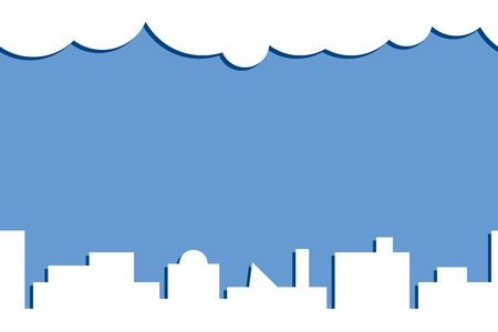 Schematic illustration of a modern city  Horizontal seamless background