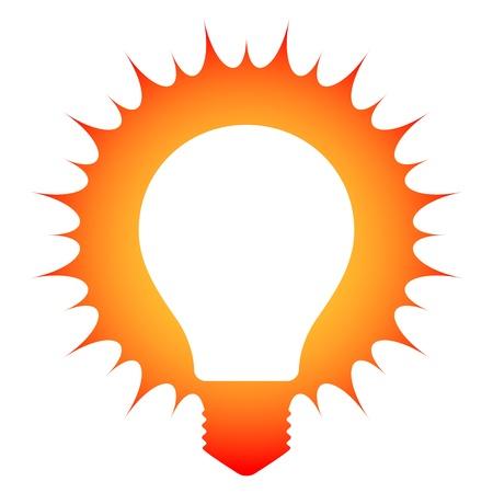 Idea  Schematic illustration of a glowing light bulb Illustration