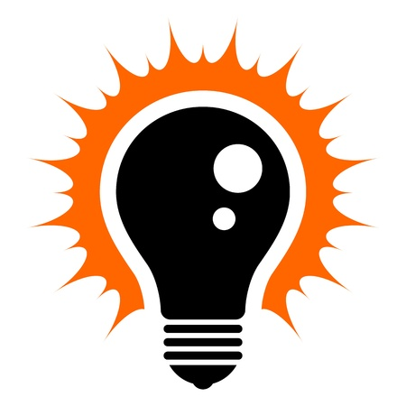 idea light bulb: Idea  Simplified illustration of a glowing light bulb Illustration