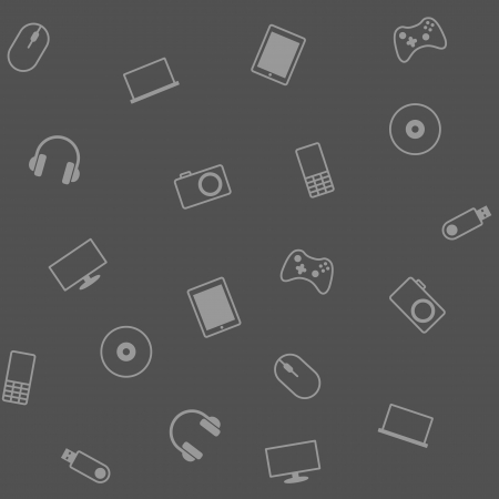 Seamless texture with a variety of electronic gadgets for your design Vector