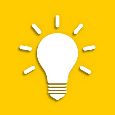 electric bulb: Sketchy electric bulb on a yellow background