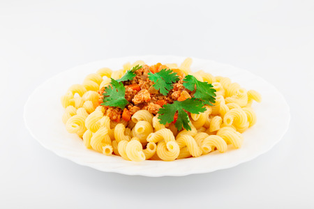 Pasta with delicious Bolognese sauce. Traditional Italian food