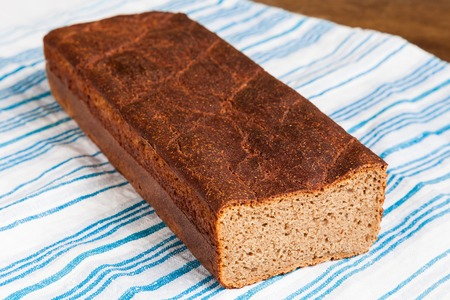 Delicious and healthy homemade rye bread closeup Stock Photo