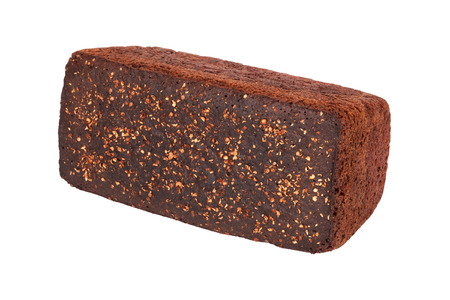 Delicious Borodinsky bread closeup isolated on white background