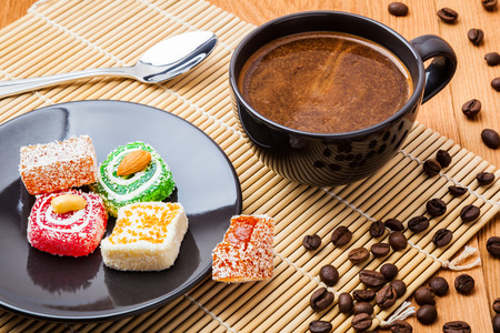 Coffee And Turkish Delight Stock Photo