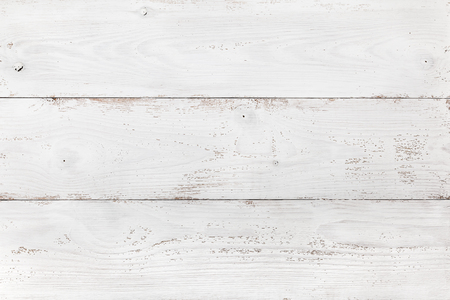 Old wooden board painted white. Light background or texture for your design Reklamní fotografie