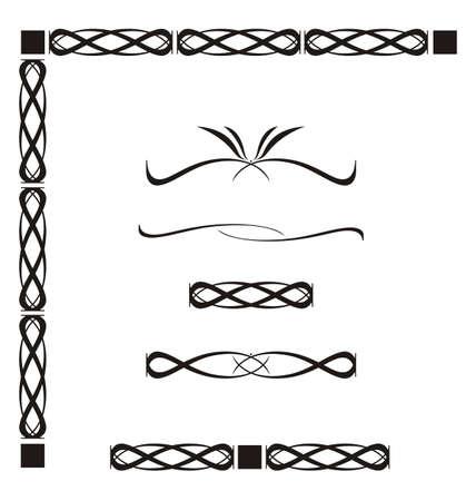Abstract decorative elements, vector illustration Stock Illustration - 6543068