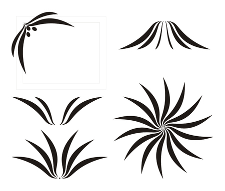 Abstract flower, calligraphy, decor, vector illustration Stock Vector - 6719403
