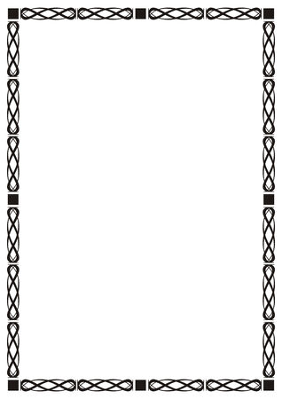 inlay: Abstract frame, decor, vector illustration