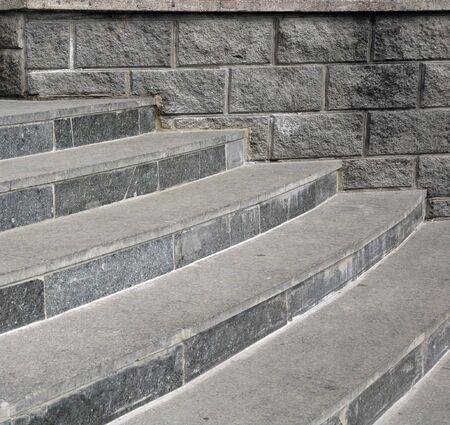 Gray stone steps close photo