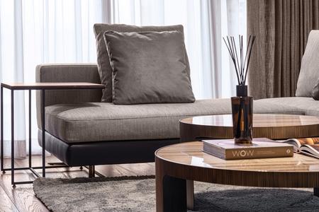 Thuis. De ruimte. Woonkamer hal. Levensstijl Elegante luxe.
