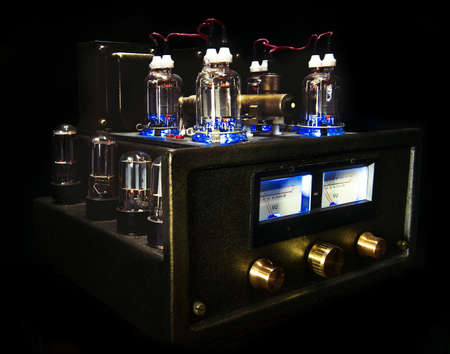 cathode: Tube Amplifier with glowing lamps