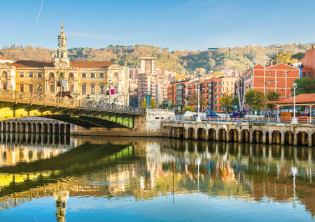 Bilbao city in november - shots of Spain - Travel Europe Stock Photo