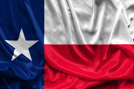 テキサス州旗 - くしゃくしゃの布背景壁紙, クローズ アップ