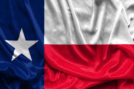 houston flag: Texas Flag - Crumpled fabric background, wallpapers, close up