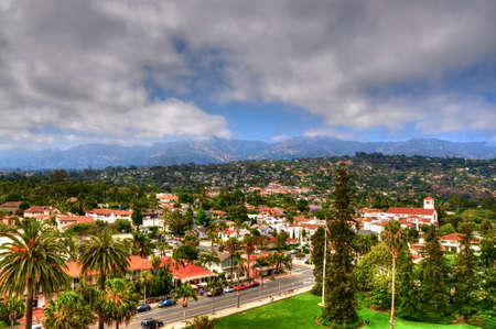 View from Santa Barbara city hall tower - USA Stock Photo