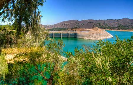 convict lake: The Bradbury Dam at Lake Cachuma in Santa Barbara County - USA
