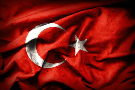 turkish flag: Turkish grunge Flag. A turkish flag with a grunge texture.
