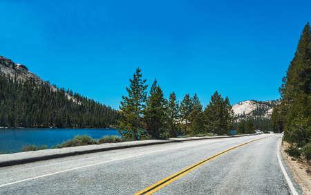 USA Highway in Yosemite National Park, California