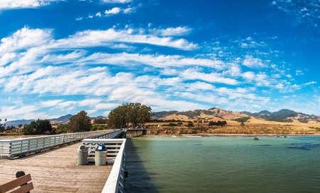 San Simeon Pier in California, USA, june