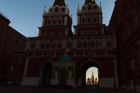 Moscow, behind the Red square,view of St. Basils Cathedral