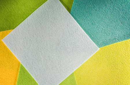 Colored paper in geometric flat. Composition with large sheets of paper Lizenzfreie Bilder
