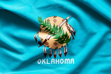 Fabric texture of the Oklahoma Flag - Flags from the USA