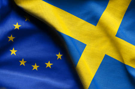 Flags of Sweden and european union