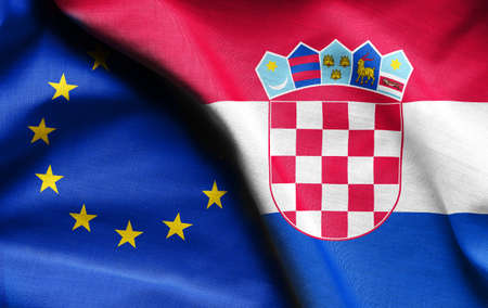Flags of Croatian and european union