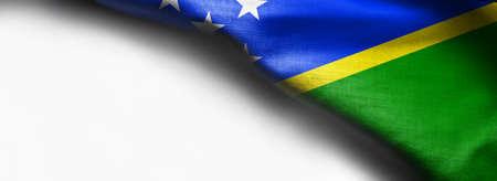 Solomon Islands flag on white background Standard-Bild - 105313769