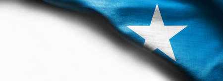 Flag of Somalia on white background