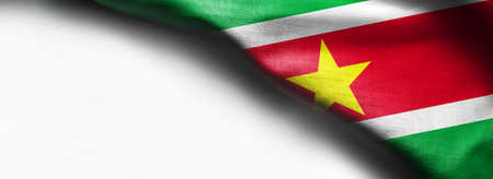 Suriname flag on white background