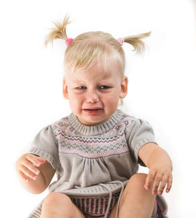 crying baby girl isolated Standard-Bild - 105810318