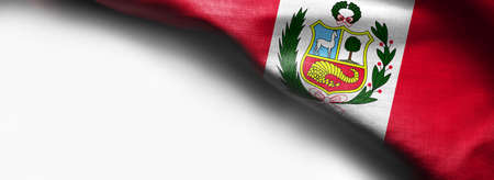 National flag of Peru on white background Stock Photo