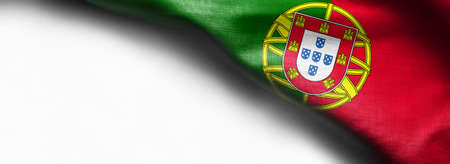 Portugal waving flag on white background Standard-Bild - 105810334